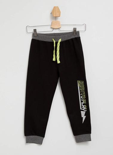 DeFacto Baskılı Slim Fit Jogger Pantolon Siyah